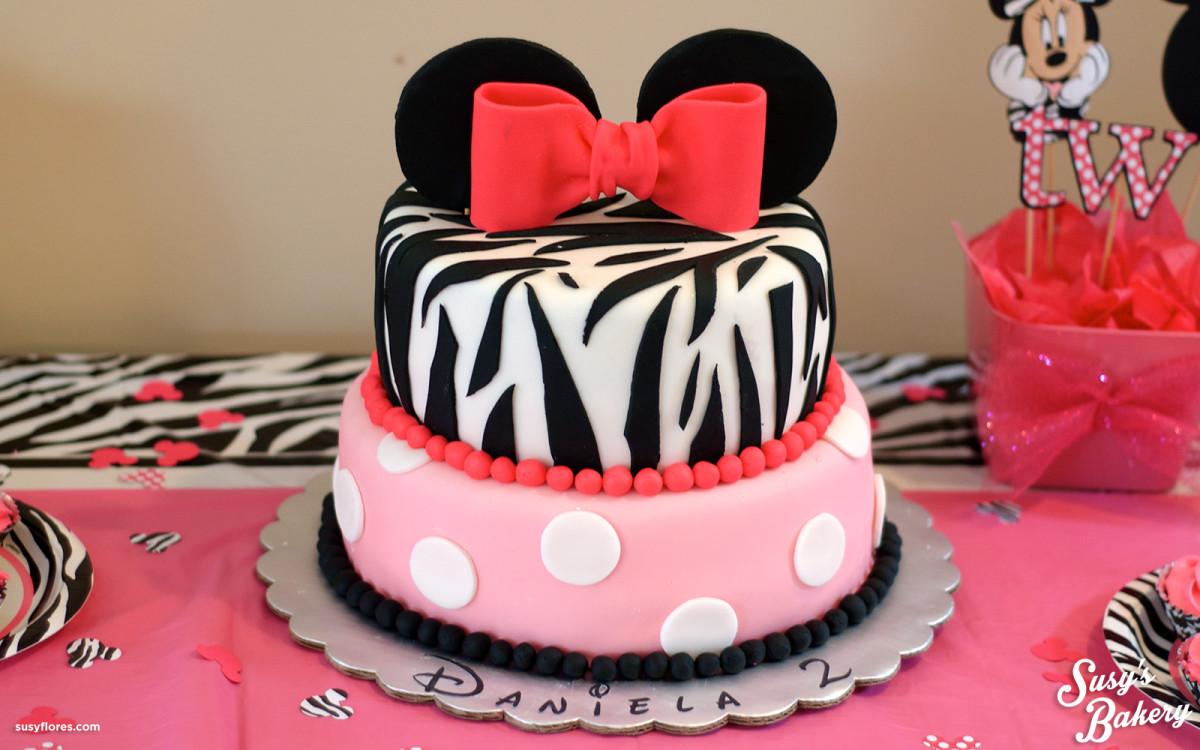 Minnie Mouse Zebra Cake Susys Bakery